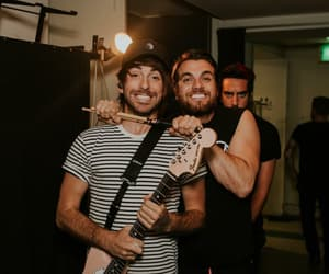 alex gaskarth, all time low, and back stage image