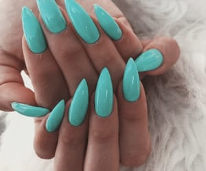 beauty, teal+turquoise, and nail inspo image