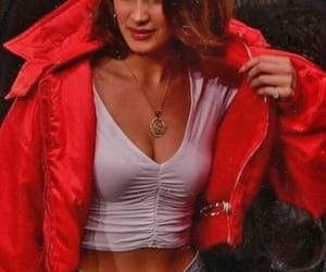 aesthetic, fashion, and red jacket image
