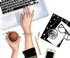 cafe, descanso, and computadora image