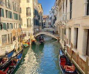 gondola, italy, and venice image