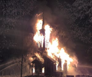 fire, burn, and church image