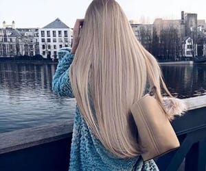 fashion, hair, and long hair image
