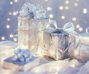 blue and christmas image
