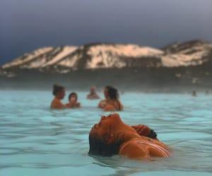 beautiful, blue lagoon, and girl image