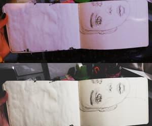 arte, dibujo, and mujer image