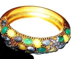 etsy, gold cuff, and vintage bracelet image