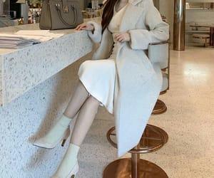 asian fashion, coat, and korean fashion image