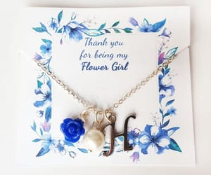 etsy, pearl necklace, and thank you card image