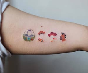 disney, pixar, and tattoo image