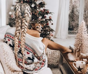 style, vibes, and christmas tree image