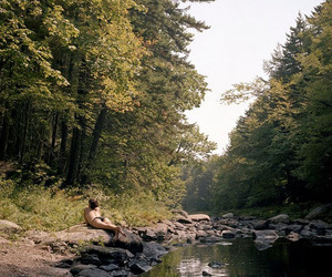 camping, forest, and girl image