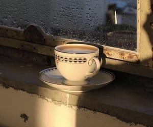 coffee, drink, and rain image