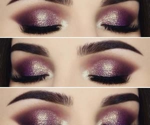 adorable, eye shadow, and glitter image