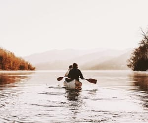 canoe, summer, and fall image