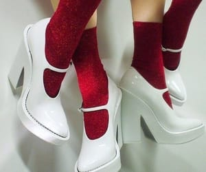 shoes, red, and white image