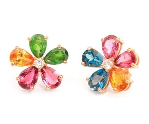 etsy, gold earrings, and colorful earrings image