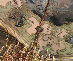 art, chandelier, and details image