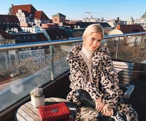 animal print, coat, and leopard print image