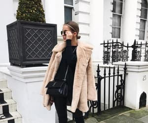 coat, street style, and all black image