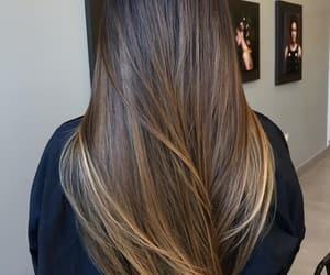 beauty, brunett, and cabelo image
