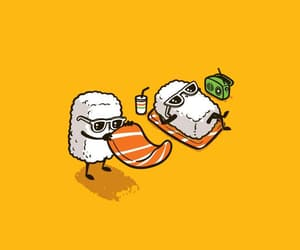 sushi, funny, and wallpaper image