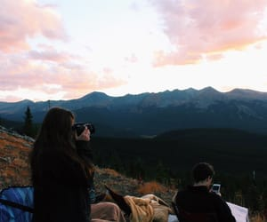 camera, camping, and girl image