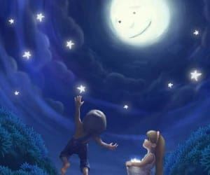 moon and cute image