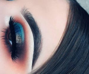 makeup, blue, and orange image