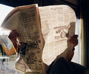 newspaper, vintage, and tumblr image