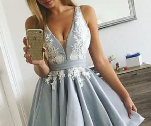 homecoming dresses, white prom dress, and short homecoming dresses image
