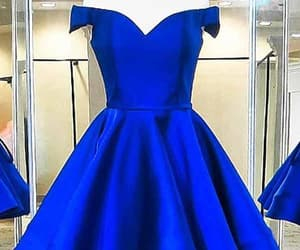 short prom dress, blue homecoming dresses, and cheap homecoming dresses image