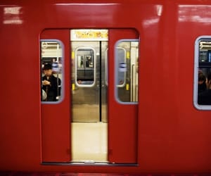 red, aesthetic, and train image