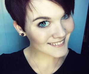 short hair, pixie cut, and selfie image