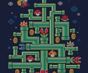 arcade, mario bros, and merry christmas image