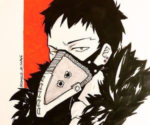fanart, ink, and anime boy image