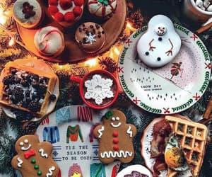 christmas, aesthetic, and cake image