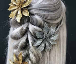 braid, silver, and winter image