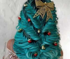 blue, ornaments, and bow image