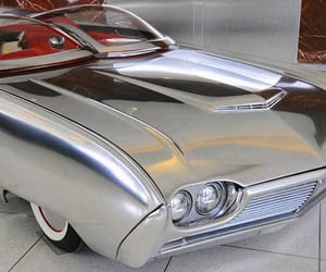 cars, silver, and vintage image