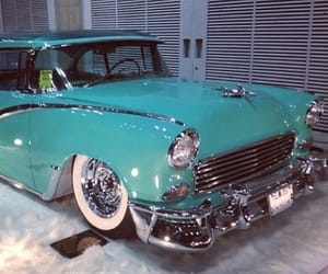 50s, blue, and cars image