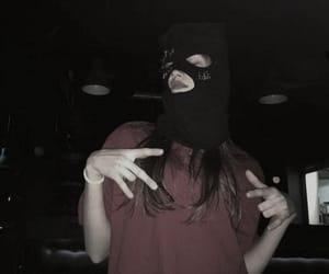 girl, black, and gang image