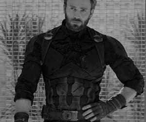 beautiful, black and white, and captain america image