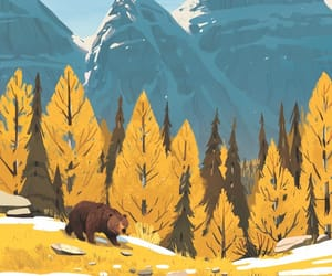 bear, illustration, and art image