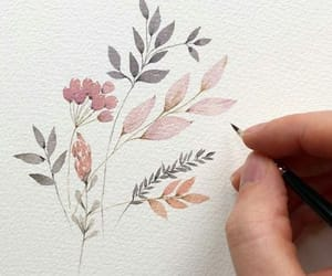 art, flowers, and watercolor image