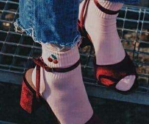 cherry, heels, and socks image