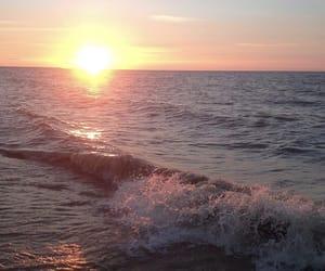 beach, sunrise, and winnipeg image