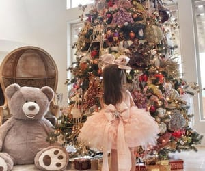 bear, christmas, and christmas tree image