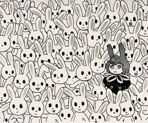 art, bunny, and entropy image