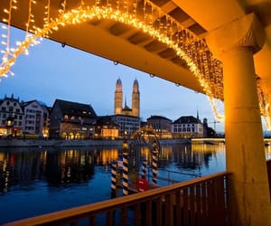 christmas, zurich, and lights image